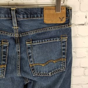 AMERICAN EAGLE | Low Rise Boot button fly jeans